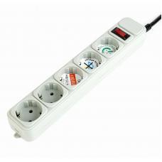 Power Box European type 6 ways power strip 2m ( White )