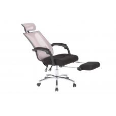 Office chair RELAX  with footrest mesh ( BLACK )