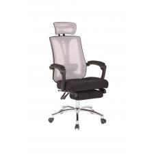 Office chair RELAX  with footrest mesh ( BLACK & WHITE )