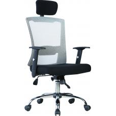 Office model mesh chair with headrest ( BLACK )
