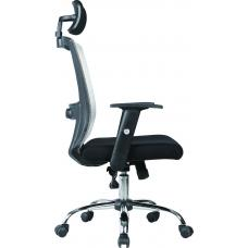 Office chair STYLE with headrest ( BLACK & GRAY )