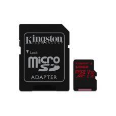 Kingston 128GB microSDXC Canvas React  100R/80W U3 UHS-I V30 A1 Card + SD Adptr