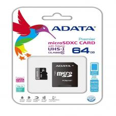 A-Data 64GB microSDHC Class 10 with adapter