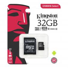 Kingston 32GB microSDHC Canvas Select 100R CL10 UHS-I Card + SD Adapter