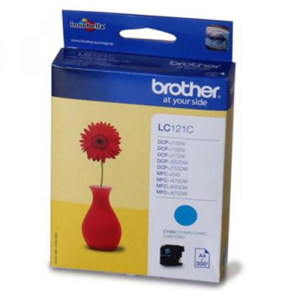 Brother Cartridge LC121C Cyan (up to 300pgs) for DCP-J132W / DCP-J152W / DCP-J552DW / MFC-J470DW