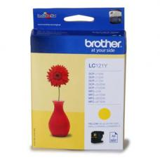 Brother Cartridge LC121Y Yellow (up to 300pgs) for DCP-J132W/DCP-J152W/DCP-J552DW/MFC-J470DW