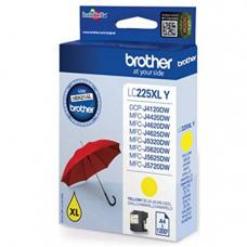 Brother Cartridge LC225XLY Yellow (up to 1200pgs)