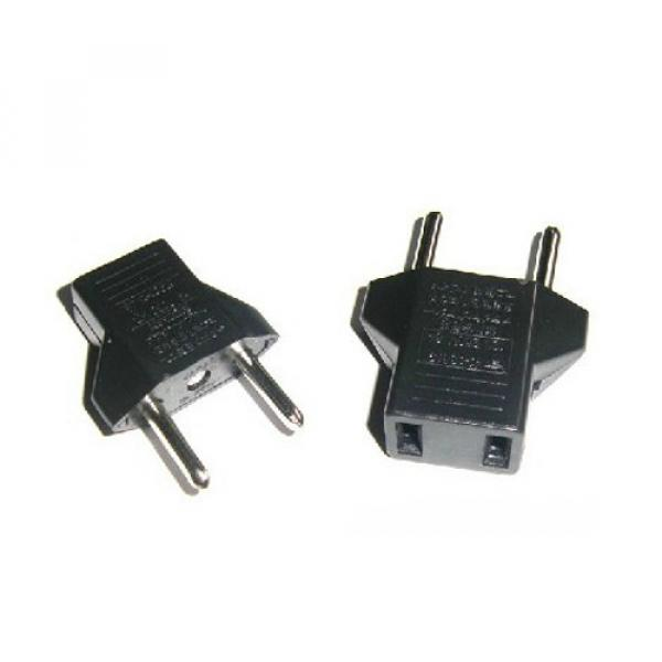 DY-56 US to EU plug adapter color: black