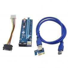 Convertor PCI-E card 1x to 16x SATA