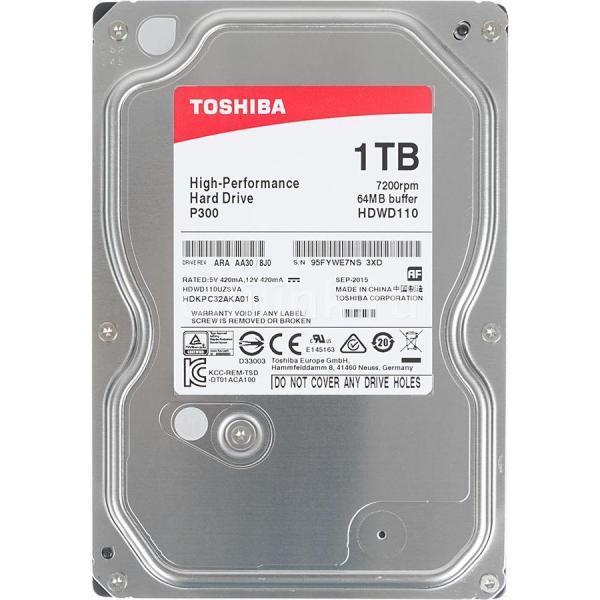 HDD 1TB Toshiba P300 7200rpm