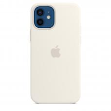 Apple Iphone 12/12 Pro Silicon Case with MagSafe ( White )