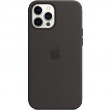 Apple Iphone 12/12 Pro Max Silicon Case with MagSafe ( Black )