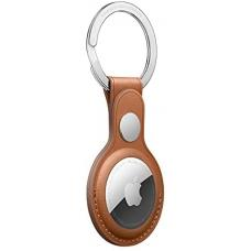 Apple AirTag Leather Key Ring with metal ring - Saddle Brown mx4m2zm/a